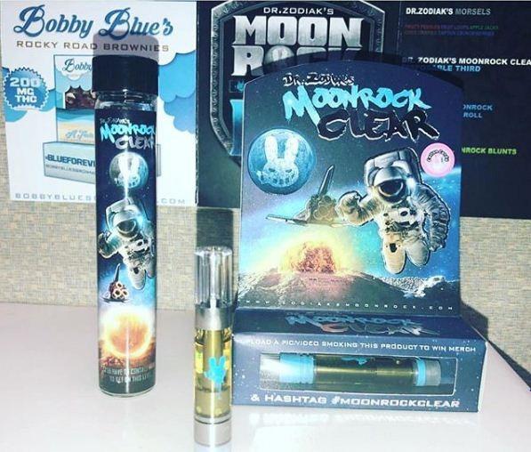 moonrock-clear, thc oil cartridge